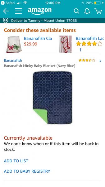 Bananafish blanket