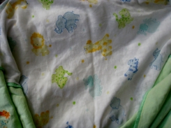 animal print cotton receiving blanket