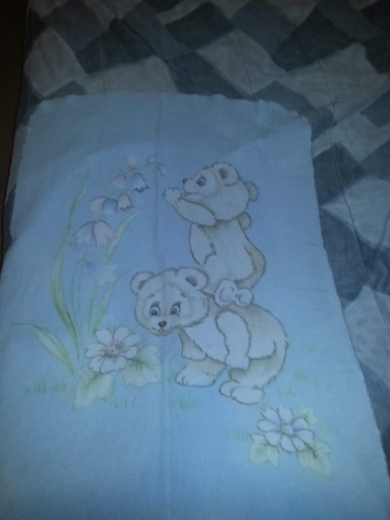Baby blue blanket with bears