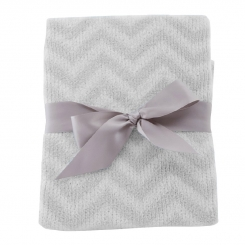 Lolli Living - Chevron Blanket - Grey (Security Blanket)