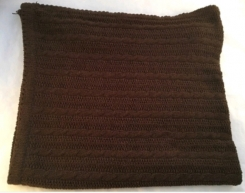 Brown cable knit blanket