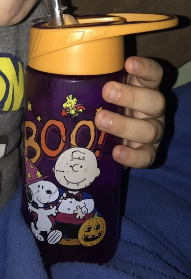 Peanuts Halloween water bottle