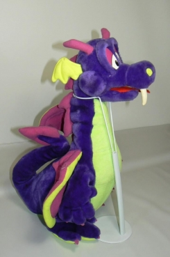 Purple and Green Dragon 18 Inches Tall Filled with styrofill Classic Toy Company 2001