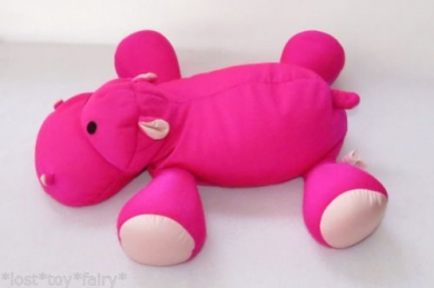 Moshi Brentwood Original Hot Pink Hippo Microbeaded Pillow