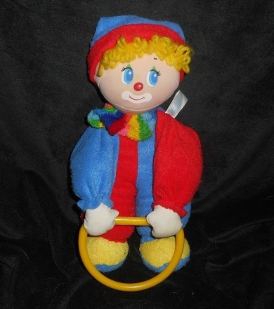 1983 AMTOY BABY SOFT TOUCH CLOWN RATTLE DOLL