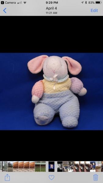 Eden Thermal Pastel Bunny circa 1993