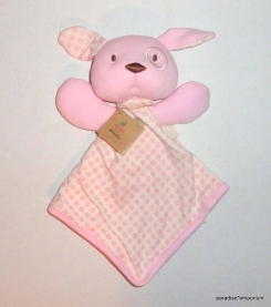 Pink and White Gund Puppy Lovey