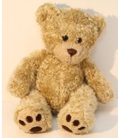 Curly tan build a bear