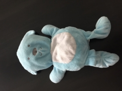 Light blue bear with white belly