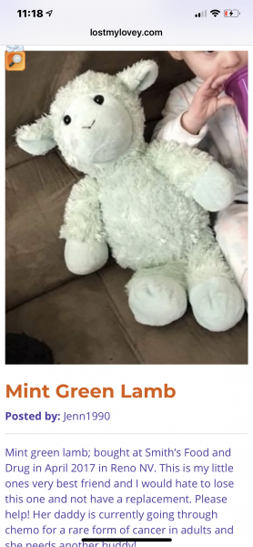 Mint green stuffed lamb