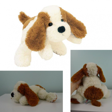 Searching For Teddy With Sewn On Purple Bowred Dog With