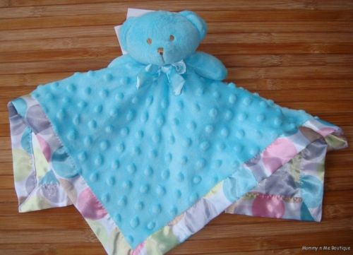 Missing Woobiee: Blankets &amp; Beyond teal polka dot blanket - Looks like the blanket above, but without the attached bear.