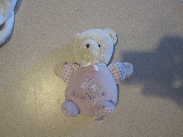 Purple Carters Bunches of Love Teddy Bear Rattle - The one we lost is the small 5
