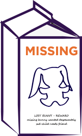 Missing Lovey Milk Carton